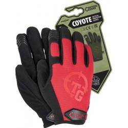 Rękawice ochronne taktyczne RTC-COYOTE C czerwone r. S-XL