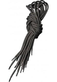 Sznurowadła trekkingowe okrągłe do butów czarne dł. 100/120/150 cm