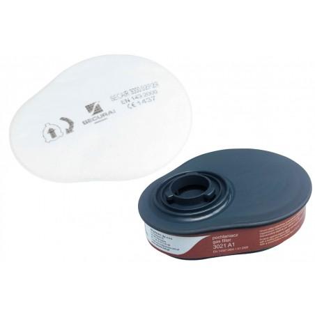 Zestaw filtrów 3041 A1P2 R - pochłaniacz 3021 A1 + filtry 3000.02 P2 R