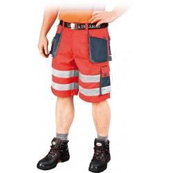 Spodnie robocze krótkie FORMEN LH-FMNX-TS CGS czerwone r. S - 3XL