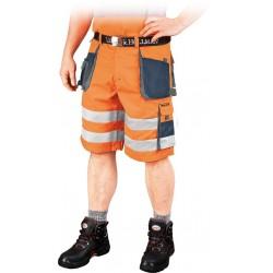 Spodnie krótkie FORMEN LHFMNXTS PGS pomarańczowo-granatowo-szare r. S-3XL