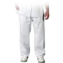 Spodnie do pasa białe HACCP Leber Hollman LH-FOOD+TRO r. S-3XL