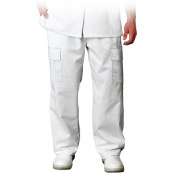 7fcc6851 Spodnie robocze do pasa białe LH-HCL TRO r. S-3XL