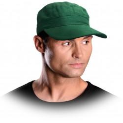 Czarna czapka z daszkiem REIS CZPOP Z zielona 100% bawełna r. 57-61