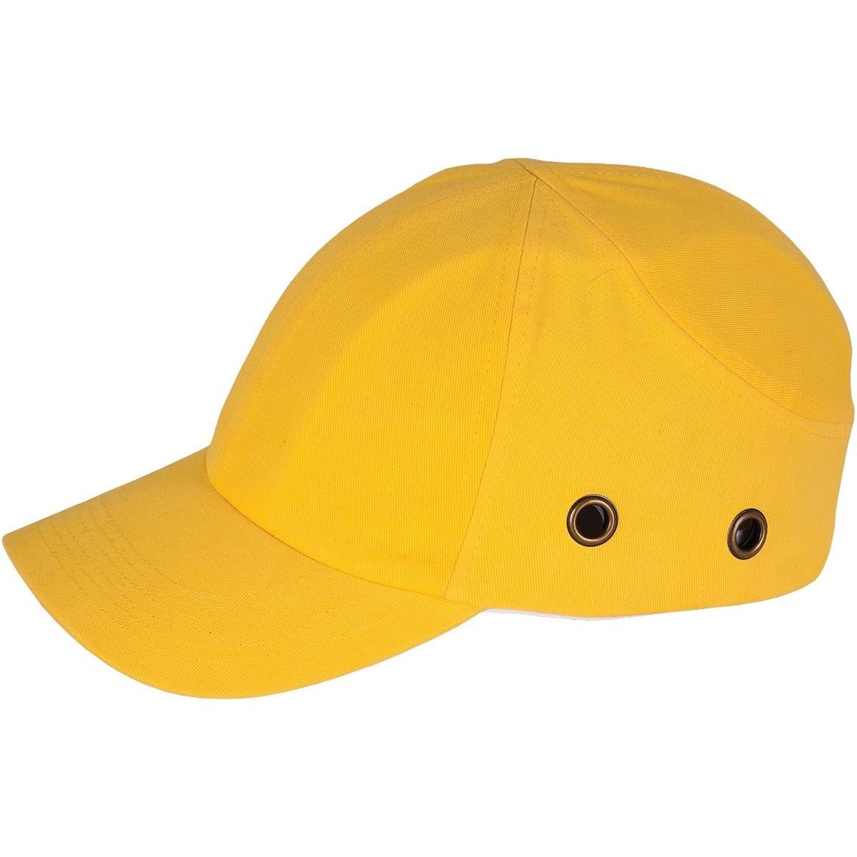Lekki hełm przemysłowy REIS BUMPCAP Y żółty r. 54-59