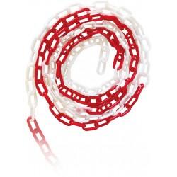 Łańcuch plastikowy JSP ROAD-CHAIN WC biało-czerwony 25m