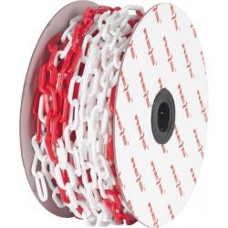 Łańcuch czerwono-biały REIS TRAFFIC-CHAIN 25m