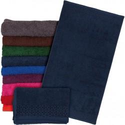 Ręcznik frotte REIS T-INDIA-DN 70X140 ciemnoniebieski