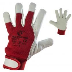 Rękawice robocze monterskie skórzane PROTEGO PRORED r. 8 - 10