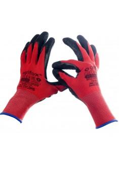 Rękawice ochronne OX LATEKS CB powlekane lateksem r. 7 - 10