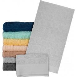 Ręcznik frotte REIS T-EGYPT JS 50x90 jasnoszary