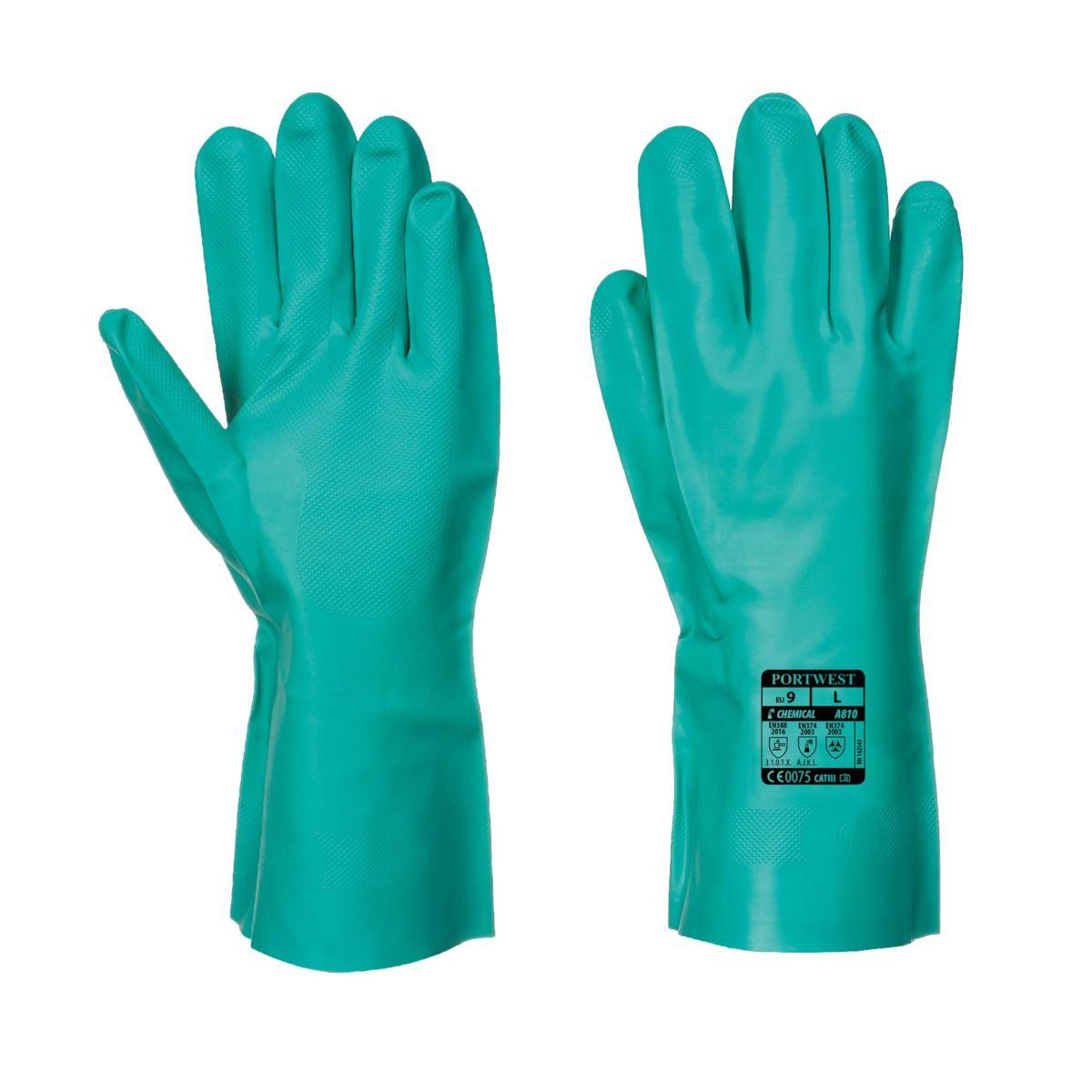 Rękawice chemiczne PORTWEST NITROSAFE A810 r. S-2XL