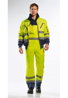 Kurtka ocieplana ostrzegawcza Portwest Pilot PJ50YNR żółta