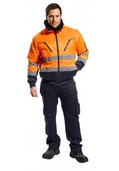 Kurtka ocieplana ostrzegawcza Portwest Pilot PJ50ONR pomarańczowa