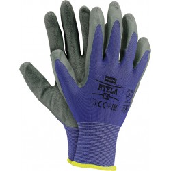 Rękawice ochronne RTELA NS r. 7 - 11 powlekane lateksem