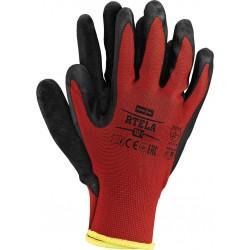 Rękawice ochronne powlekane lateksem RTELA CB r. 7 - 11