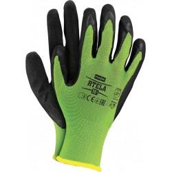 Rękawice ochronne RTELA LB r. 7 - 11 powlekane latexem