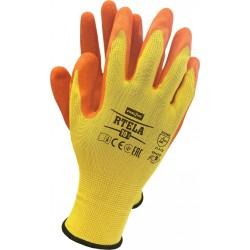Rękawice ochronne z poliestru powlekane latexem RTELA YP r. 7 - 11
