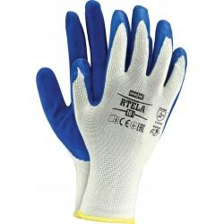Rękawice ochronne z poliestru powlekane latexem RTELA WN