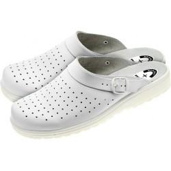 Buty zawodowe klapki medyczne MEDIBUT białe r. 36 - 47