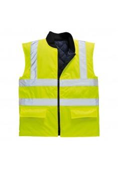 Ocieplacz bezrękawnik ostrzegawczy dwustronny Portwest S469 YER żółty