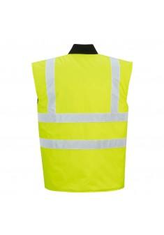 Ocieplacz bezrękawnik ostrzegawczy dwustronny Portwest S469YER żółty
