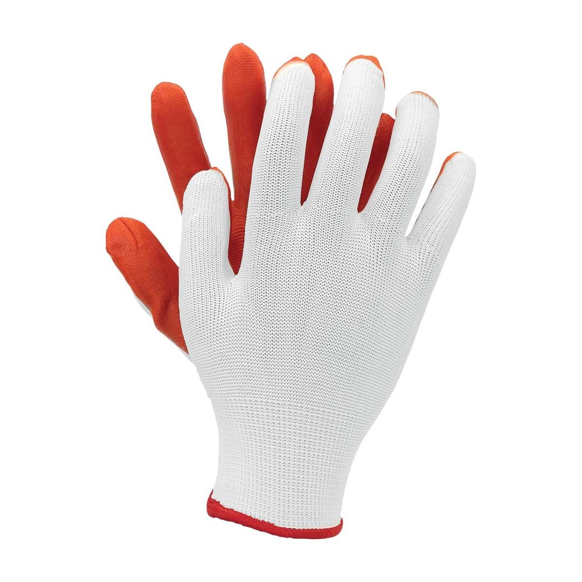 Rękawice robocze OX LATUA powlekane latexem r. L