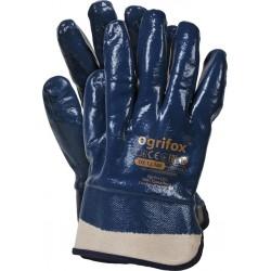 Rękawice ochronne powlekane nitrylem OGRIFOX z mankietem