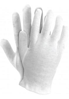 Rękawice ochronne z bawełny Ogrifox OX-UNDER W białe r. 7 - 10