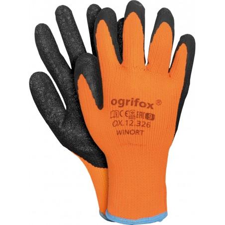 Rękawice ochronne ocieplane powlekane OGRIFOX OX-WINORT r. 9 - 11