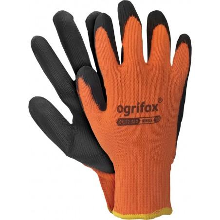 Rękawice robocze ocieplane ochronne lateks OX-WINUA