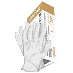 Rękawice winylowe bezpudrowe z winylu OGRIFOX OX-VIN białe