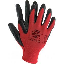 Rękawice ochronne z poliestru powlekane nitrylem RTENI CB r. 7 - 10
