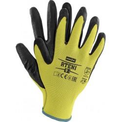 Rękawice ochronne z poliestru powlekane nitrylem RTENI YB r. 7 - 10