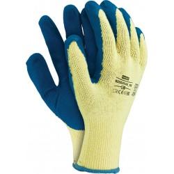 Rękawice ochronne powlekane REIS RECODRAG żółto-niebieskie r. XL