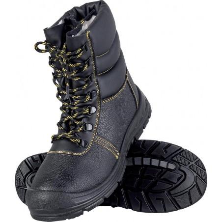 Buty bezpieczne zimowe ocieplane wysokie BRYES-TWO-S1