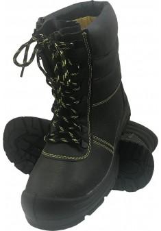 Buty bezpieczne zimowe ocieplane wysokie  BRYES-TW-SB
