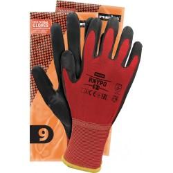 Rękawice ochronne z nylonu powlekane REIS RNYPO CB r. 6 - 11