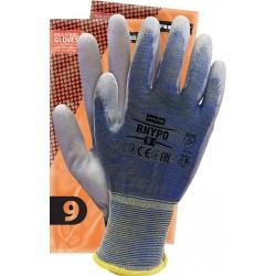 Rękawice ochronne z nylonu powlekane REIS RNYPO MELNSW r. 6 - 11