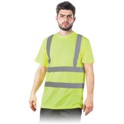 T-SHIRT odblaskowy ostrzegawczy TSROUTE_PS żółty