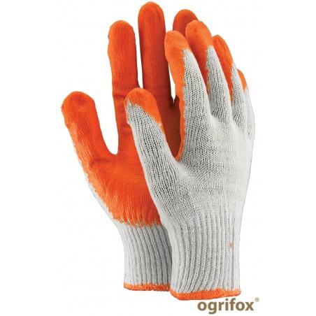 Rękawice robocze powlekane gumą OX-UNIWAMP wampirki pomarańczowe