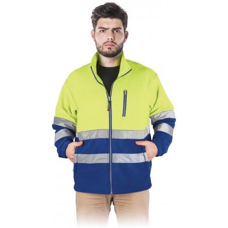 Bluza polarowa z pasami odblaskowymi REIS POLSTRIP YN r. S - 3XL