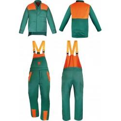 Komplet spodnie ogrodniczki bluza dla pilarza drwala DR-PIL-U ZP