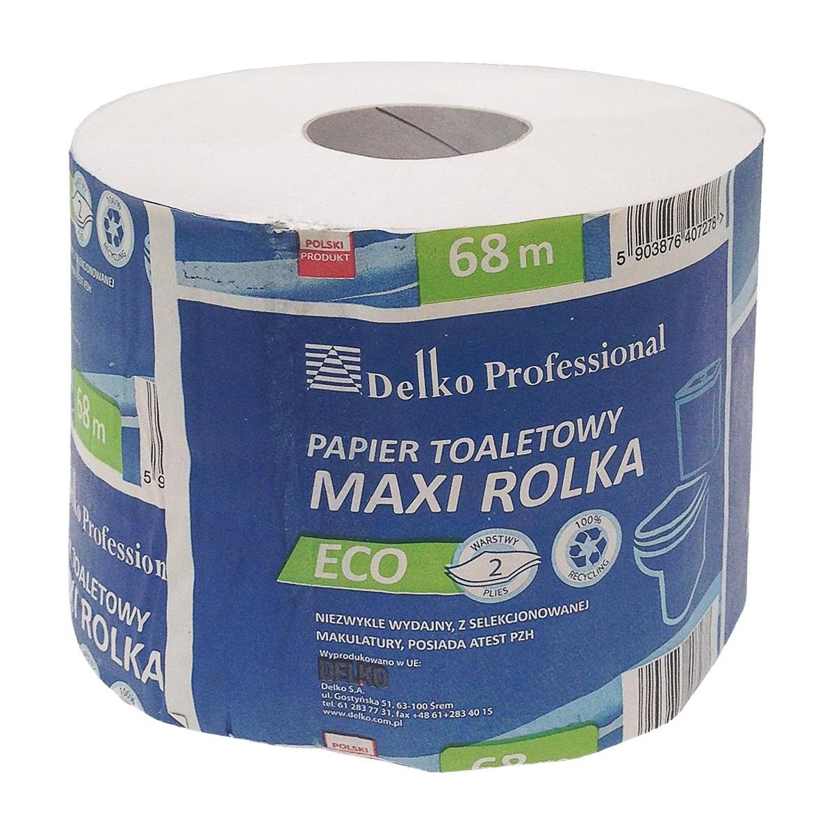 Papier toaletowy bielony 18 rolek