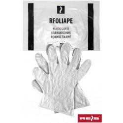 Rękawice ochronne wykonane z folii RFOLIAPE T 100 sztuk