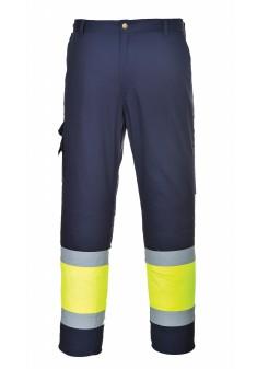 Spodnie ostrzegawcze bojówki dwukolorowe - E049