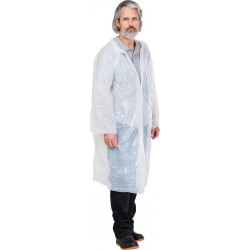 Płaszcz przeciwdeszczowy na napy biały uniwersalny REIS PFOL