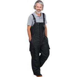 Spodnie ochronne ogrodniczki zimowe LH-BLACKER