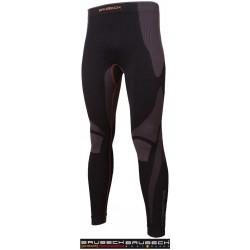 Spodnie kalesony termoaktywne BRUBECK czarno-szare r. S - 2XL