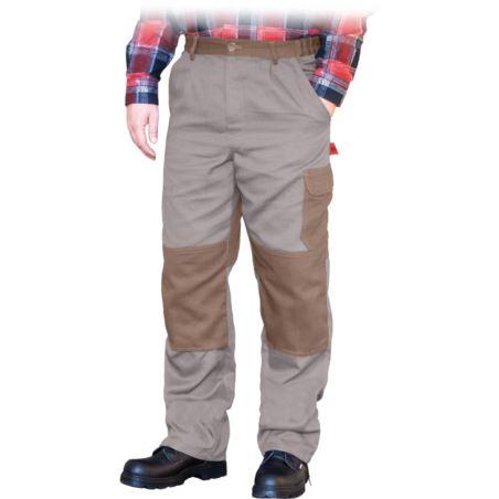 Spodnie do pasa ochronne REIS BOMULL beżowo-brązowe